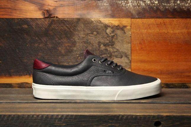 Vans Leather Era 59 Ca Black Profile 1