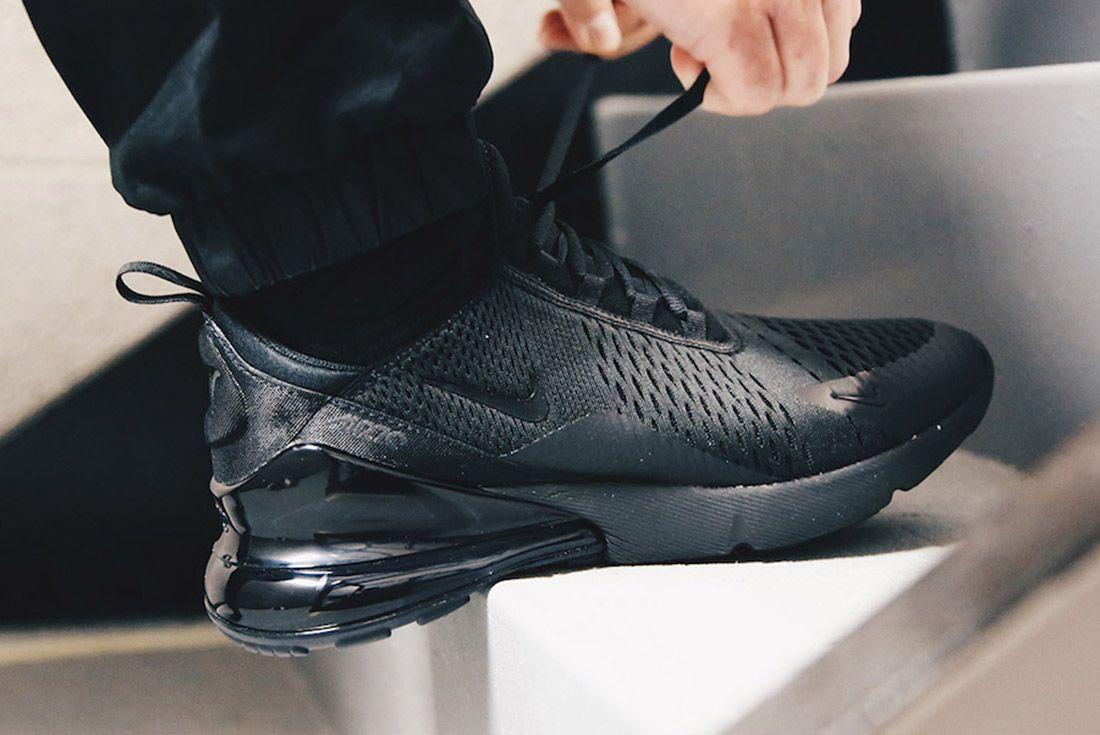 1Nike Air Max 270 Triple Black Release Date Sneaker Freaker