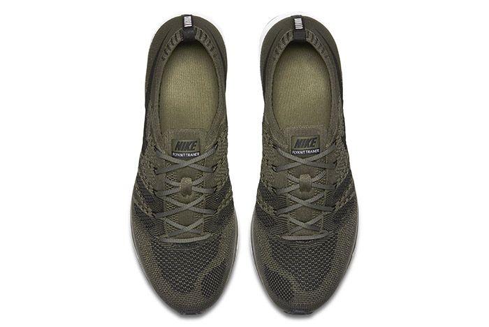 Nike Flyknit Trainer Medium Olive 3