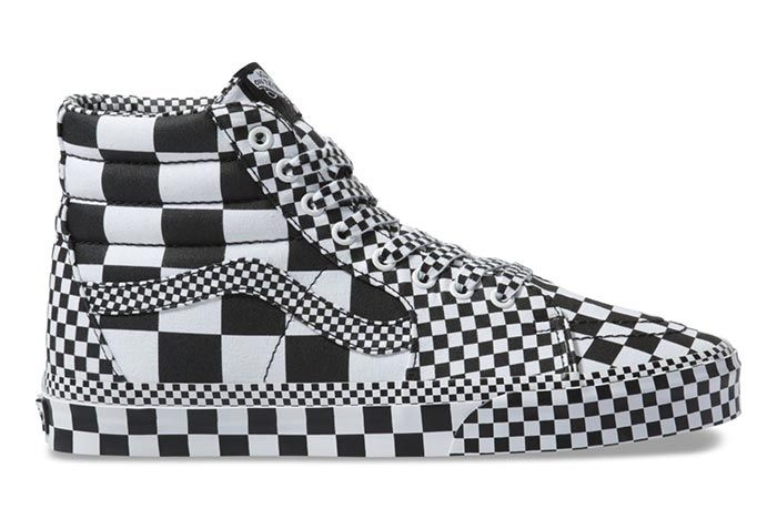 Vans Sk8 Hi All Over Checkerboard Right Side View