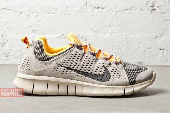 Nike Free Powerlines Ii Lthr Grey Laser Orange 1