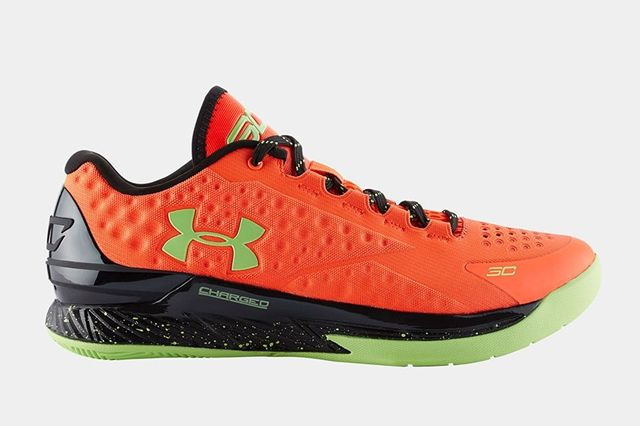 Ua Curry One Low Bolt Orange Avex Green 5