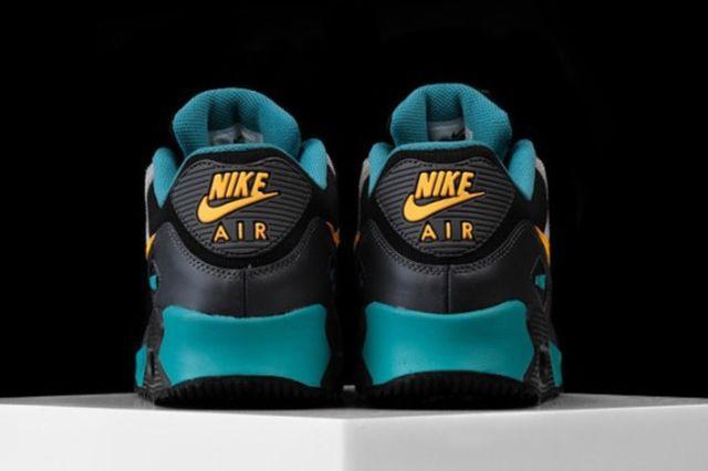Nike Air Max 90 Winter Premium Teal Grey Yellow 04 570X425