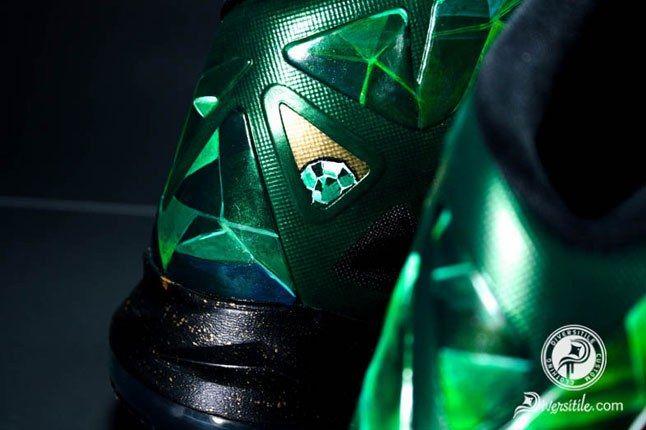 Lebron Emerald Diversitile Custom Heels 1