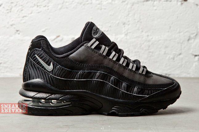 Nike Air Max 95 Gs Black Silver Anthracite 4