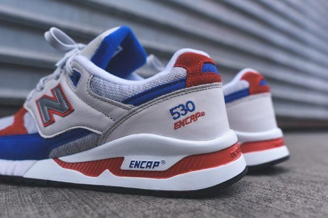New Balance 530 Grey Blue Orange 3