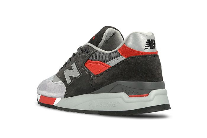 New Balance 998 Made In Usa Grey Red 4
