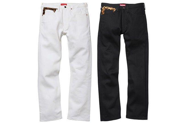 Supreme New York Leopard Jeans 1
