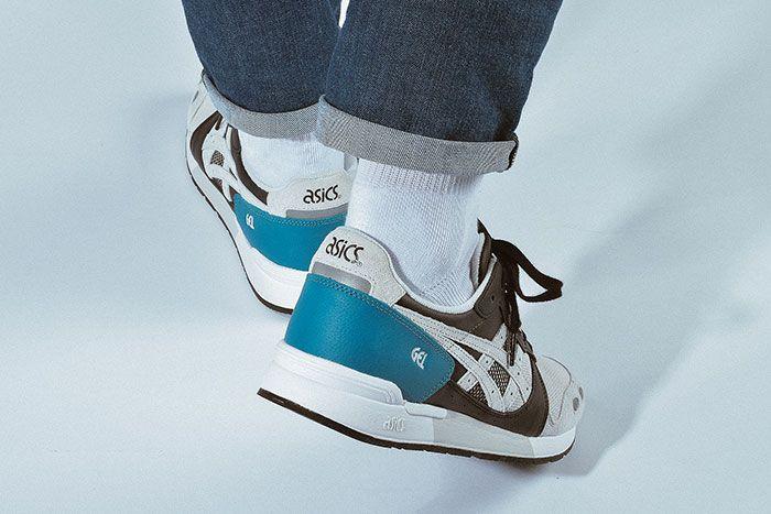 Asics Gel Lyte Teal Glacier Grey Heel