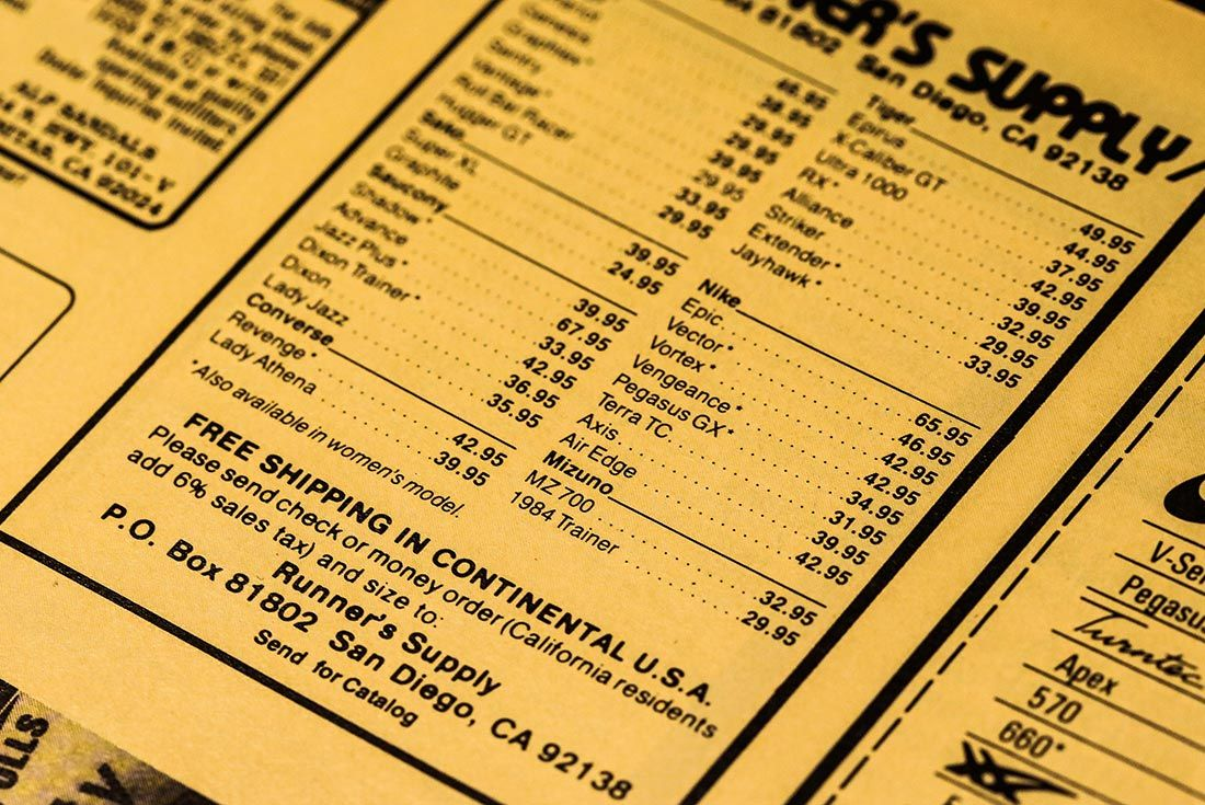 Runners World 1985 Mail Orders