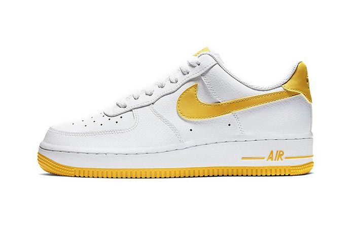 Nike Air Force 1 Yellow White Lateral