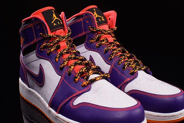 Air Jordan High Bg Court Purple Bright Crimson 4