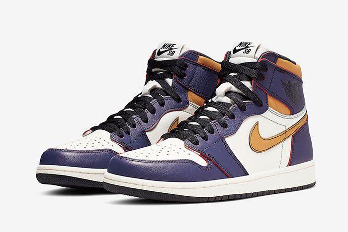 Nike Sb Air Jordan 1 Lakers Cd6578 507 Release Date Price 4 Pair Side