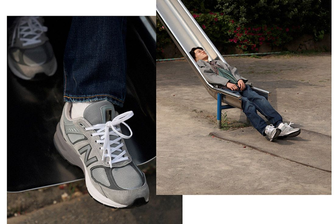 New Balance 990V5 Biancissimo Afew Japan Editorial 14 Slide