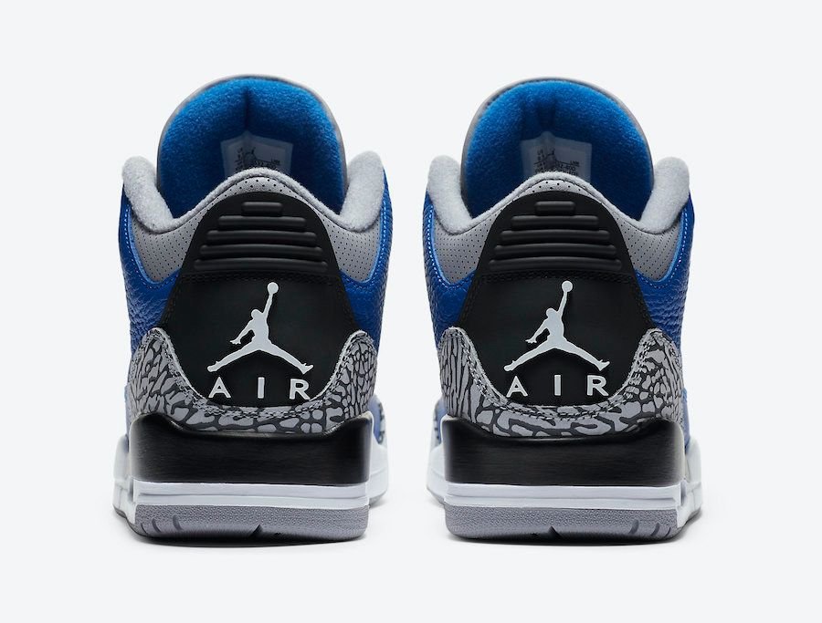 Air Jordan 3 Varsity Royal Heel