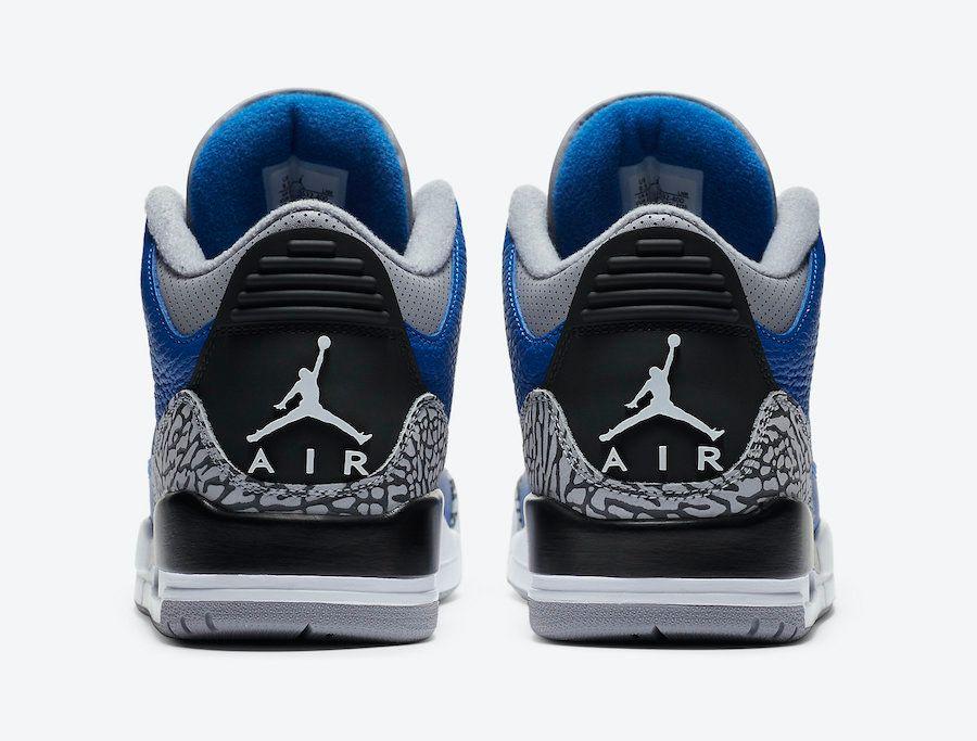 Air Jordan 3 Varsity Royal Heel