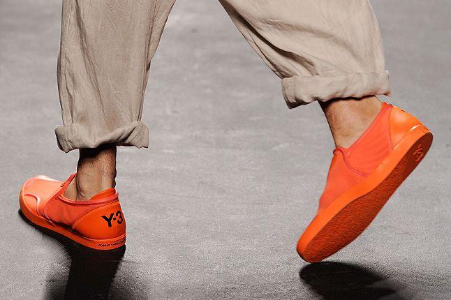 Y3 Orange Low Sneakers Catwalk 1