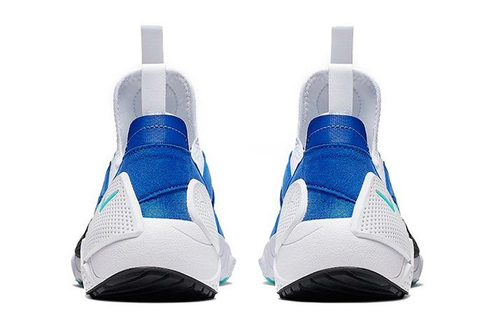 Nike Huarache Edge Txt White Blue Heel Shot