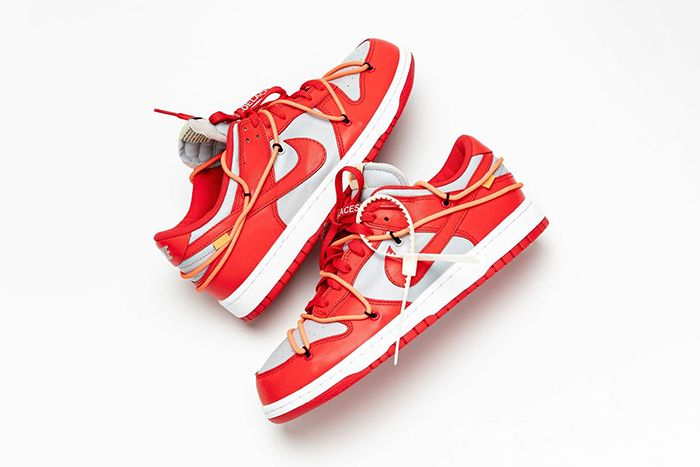 Off White Nike Dunk University Red Ct0856 600 Release Date Pair Hanzuying