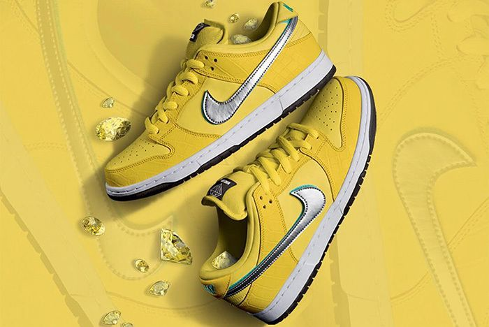 Diamond Supply Canary Yellow Nike Sb Dunk Release 1