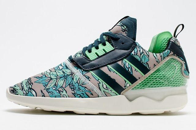 Adidas Zx 8000 Boost Hawaiian Floral Green 1