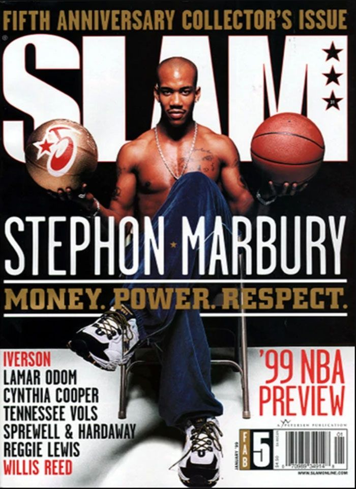 Slam Magazine Stephon Marbury New Balance 801