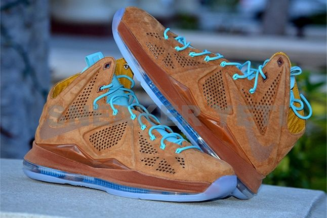 Nike Lebron X Hazelnut Brown Suede Profile Elevated 1