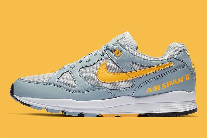 Nike Air Span Ii Grey Yellow Side6