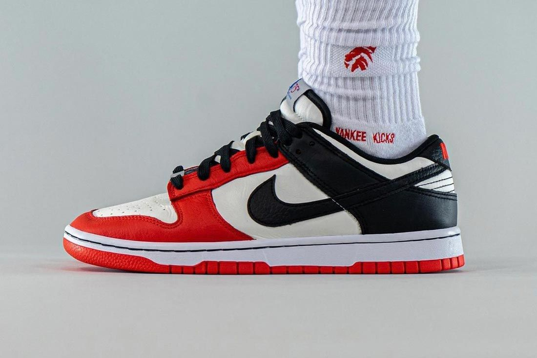 nba nike dunk low 75 anniversary chicago bulls lateral