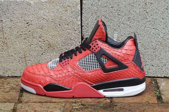 Jbf Customs Jordan Iv Fire Red Python 4 1