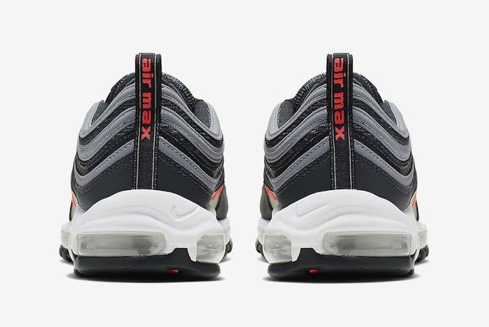 Nike Air Max 97 Anthracite Crimson Heels