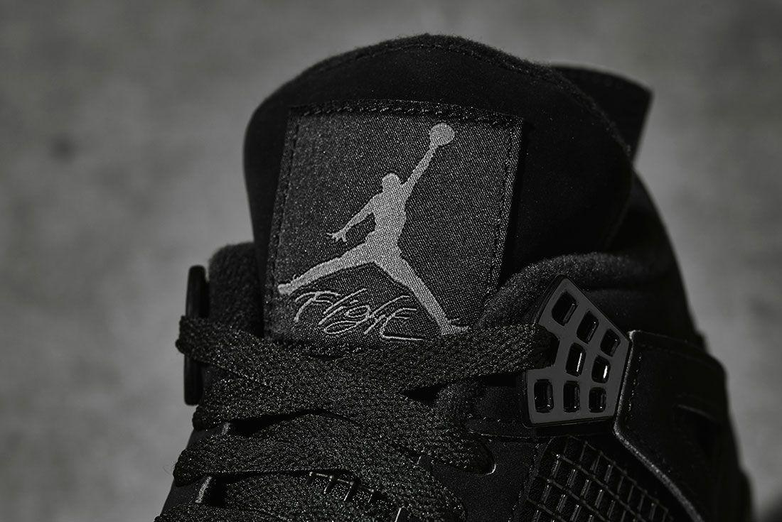 Air Jordan 4 Black Cat 2020 Retro Jd Sports Tongue Detail