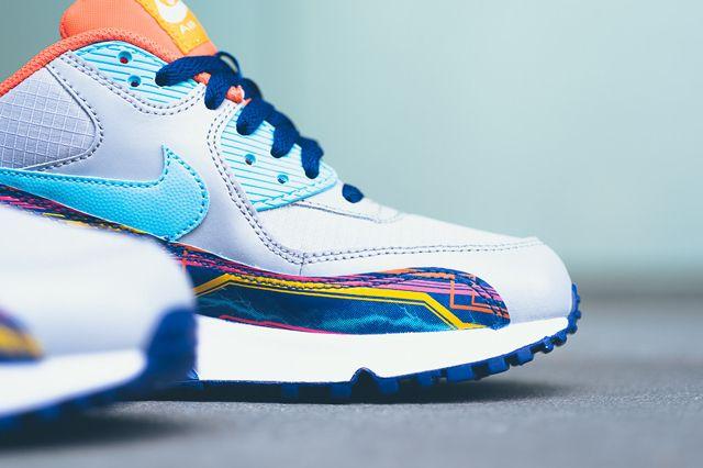 Nike Air Max 90 Prem Mesh Gs 724882 001 Sneaker Politics 5 1024X1024