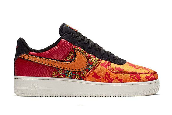 Nike At4144 601 2 Air Force 1 Low Flower Side Shot