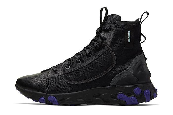 Nike React Ianga Black Light Aqua Anthracite Court Purple Av5555 002 Release Date Lateral