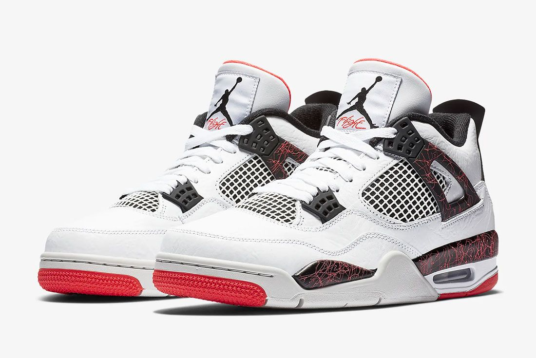 Air Jordan 4 Bright Crimson Pair Shot