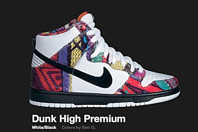 Nike White Black Ben G Dunk Hi Sb 2010 1