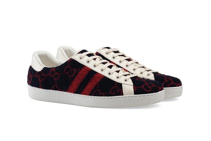 Gucci Gg Wool Sneaker Front Angle Shot 4