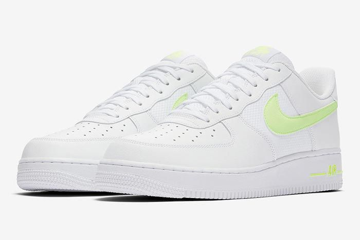 Nike Air Force 1 White Volt Pair