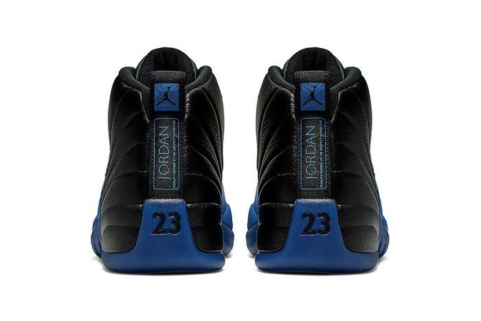 Air Jordan 12 Black Game Royal Official 130690 014 Release Date Heel