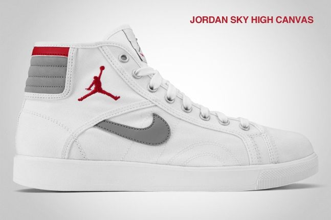 Jordan Sky High Canvas White 1