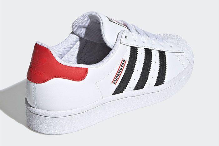 Run Dmc Adidas Superstar 2020 Rear Angle