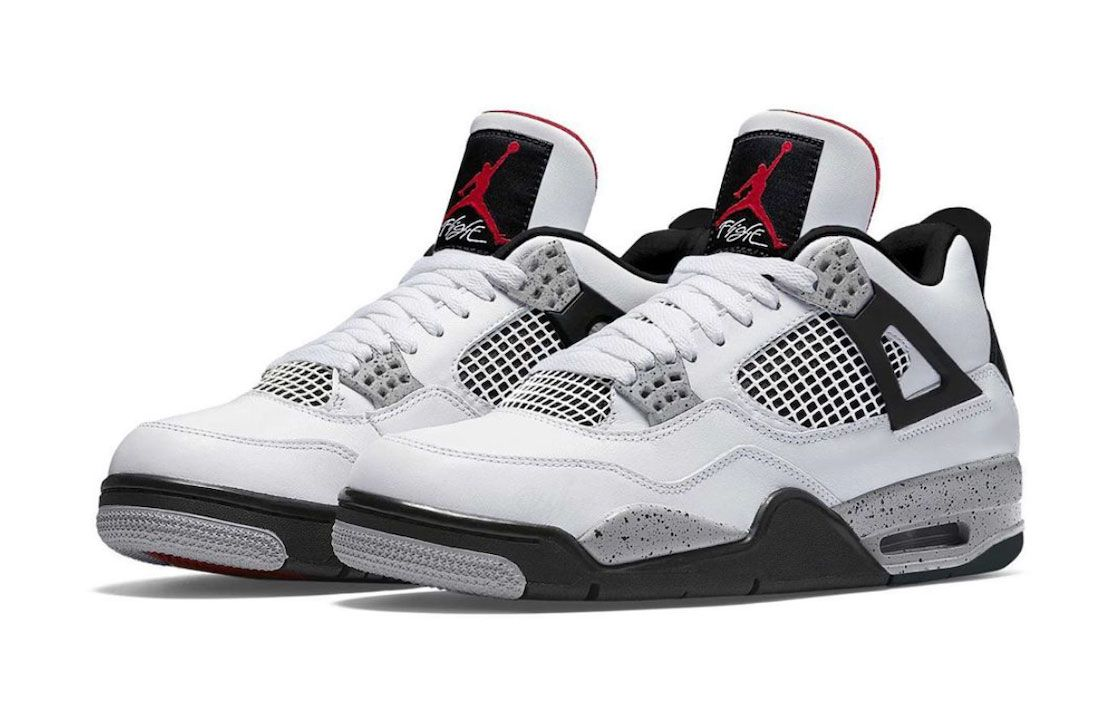 Air Jordan 4 Tech Grey CT8527-100 Mockup