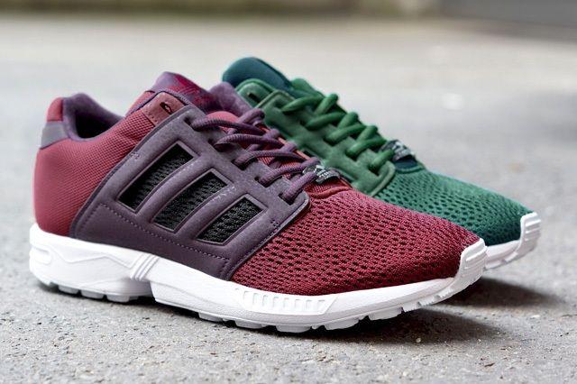 Adidas Zx Flux 2 0 Green Burgundy 2