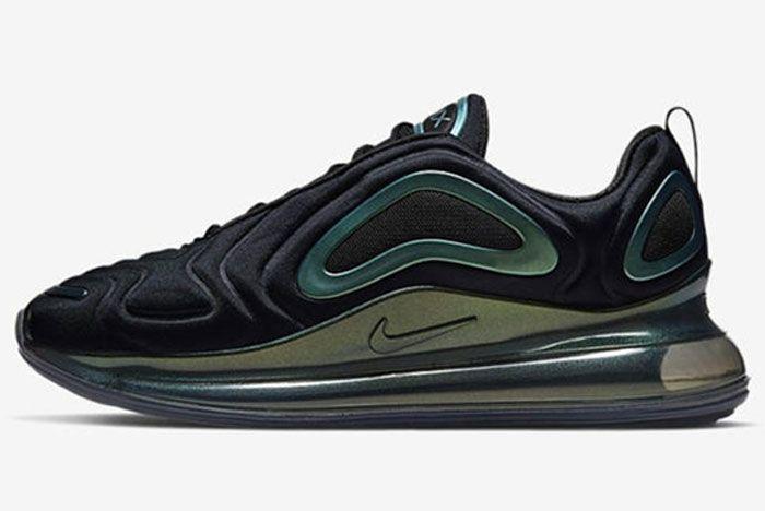 Nike Air Max 720 Black Amarillo Left