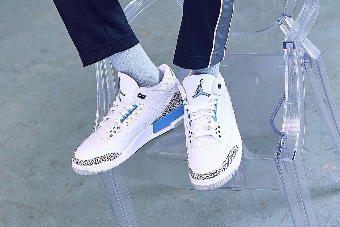 Air Jordan 3 Unc On Foot Jd Sports 5
