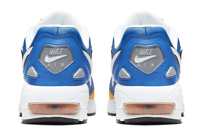 Nike Air Max 2 Light Premium University Gold Game Royal Golden State Warriors Heels