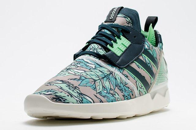 Adidas Zx 8000 Boost Hawaiian Floral Green 2