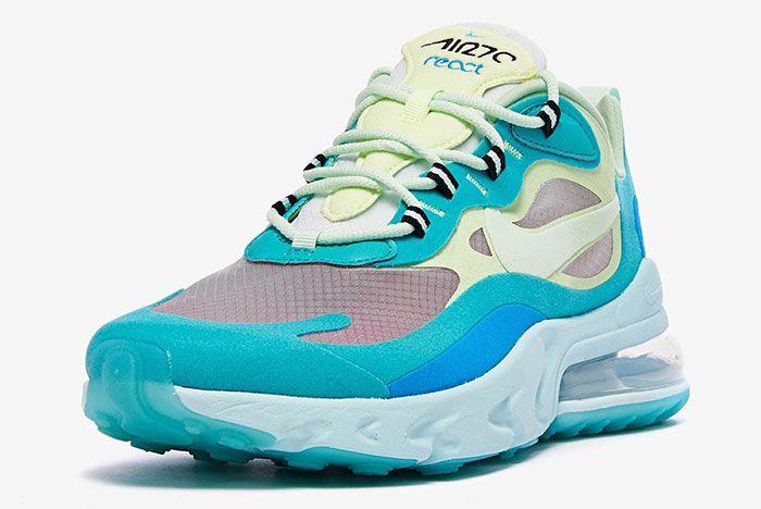 Nike Air Max 270 React Hyper Jade Ao4971 301 Front Angle