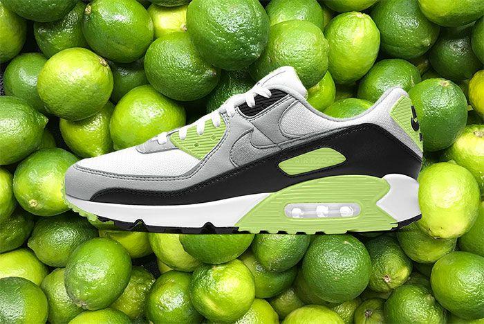 Nike Air Max 90 White Light Smoke Grey Black Particle Grey Cw5458 100 001 Lateral